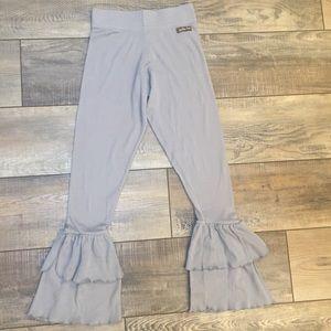Matilda Jane girl's ruffle bottom leggings
